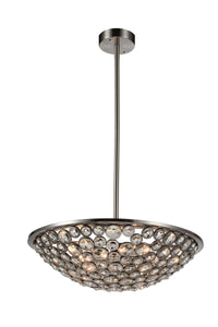 5 Light  Chandelier with Satin Nickel finish