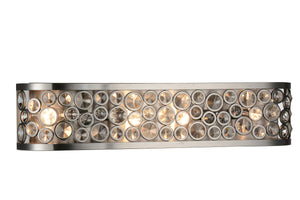 4 Light Wall Sconce with Satin Nickel finish