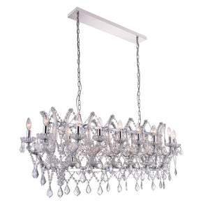 21 Light Candle Chandelier with Chrome finish