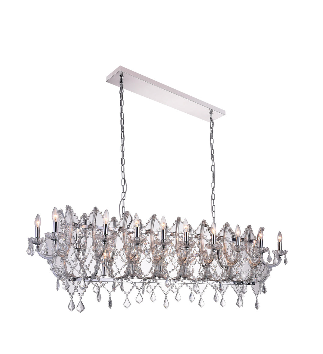 24 Light Candle Chandelier with Chrome finish