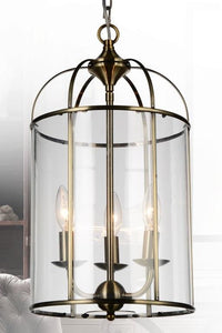 3 Light Up Chandelier with Antique Bronze finish