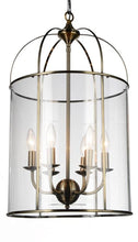Load image into Gallery viewer, 6 Light Up Chandelier with Antique Bronze finish