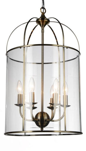 6 Light Up Chandelier with Antique Bronze finish