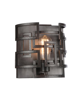 1 Light Wall Sconce with Brown finish