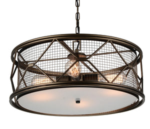 4 Light  Chandelier with Light Brown finish