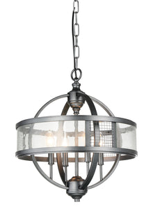 4 Light Up Chandelier with Gray finish