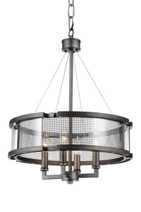 4 Light Up Chandelier with Black Silver finish