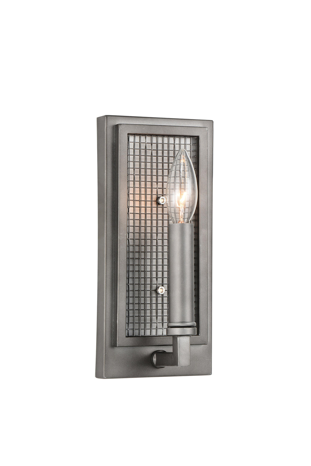 1 Light Wall Sconce with Black Silver finish