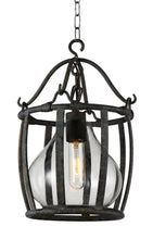 Load image into Gallery viewer, 1 Light Down Pendant with Antique Black finish