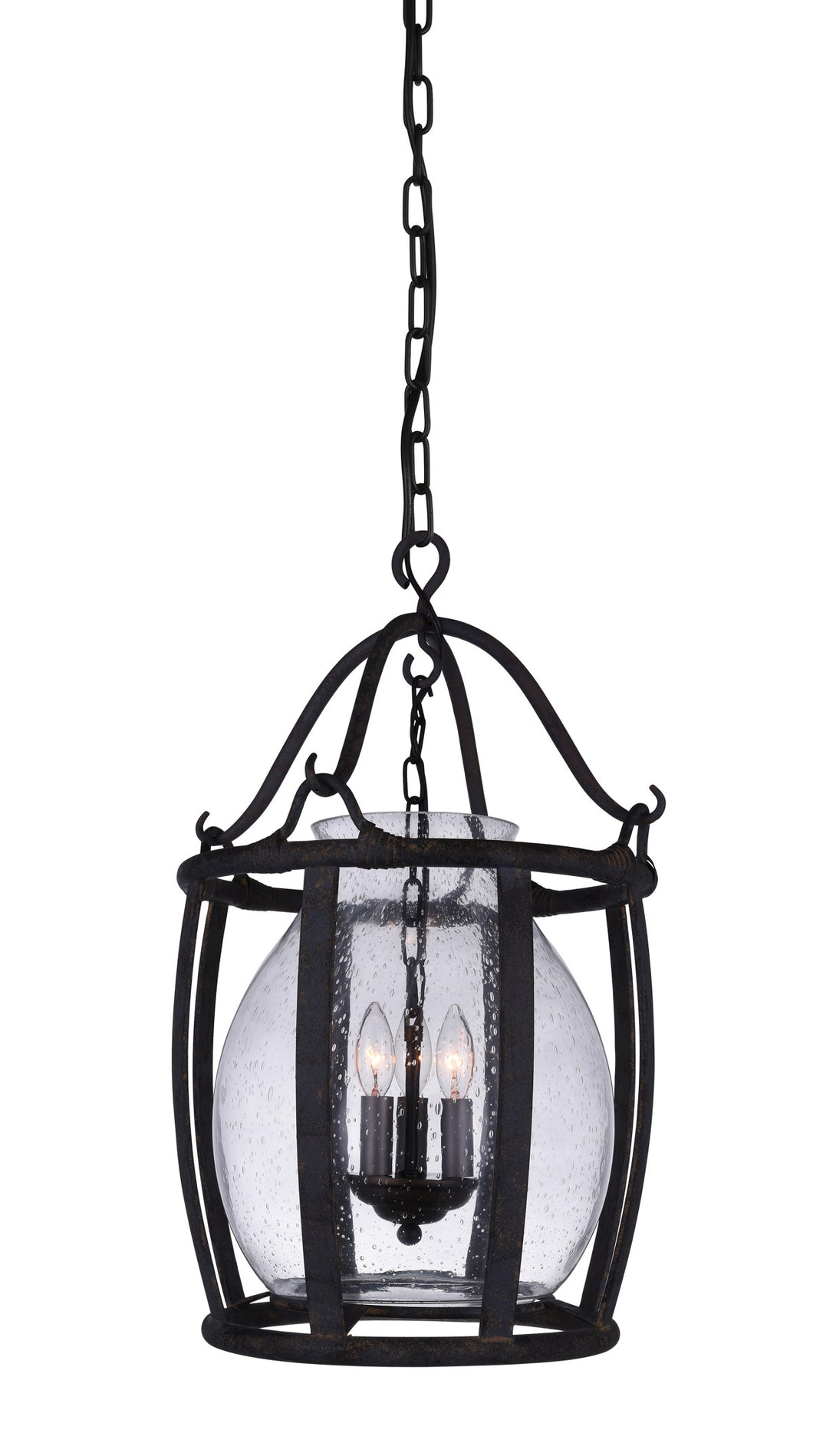 3 Light Up Pendant with Antique Black finish