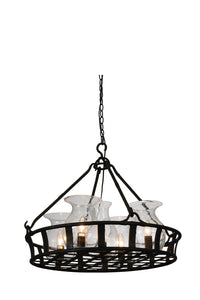 5 Light Up Chandelier with Antique Black finish