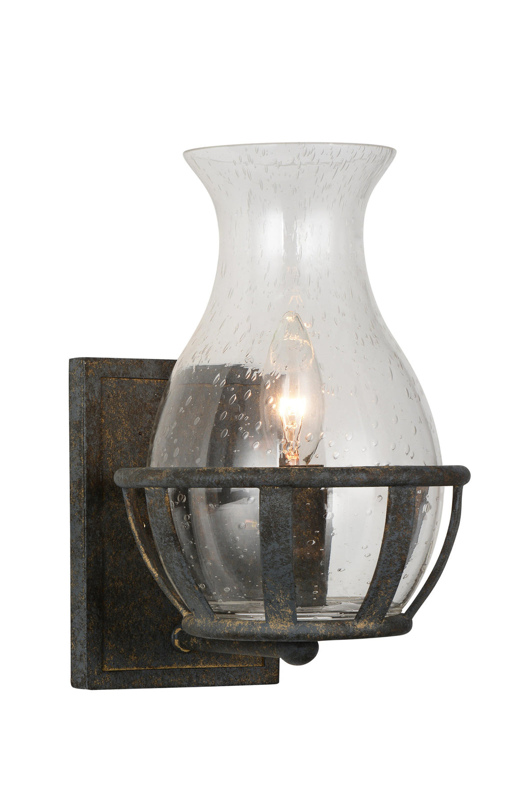 1 Light Wall Sconce with Antique Black finish
