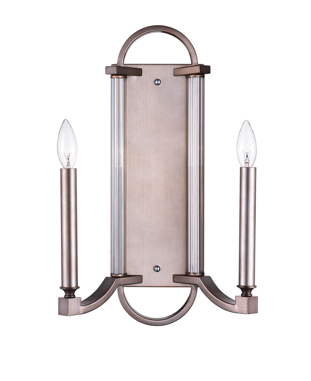 2 Light Wall Sconce with Brownish Silver finish
