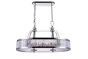 10 Light Drum Shade Island Light with Chrome finish