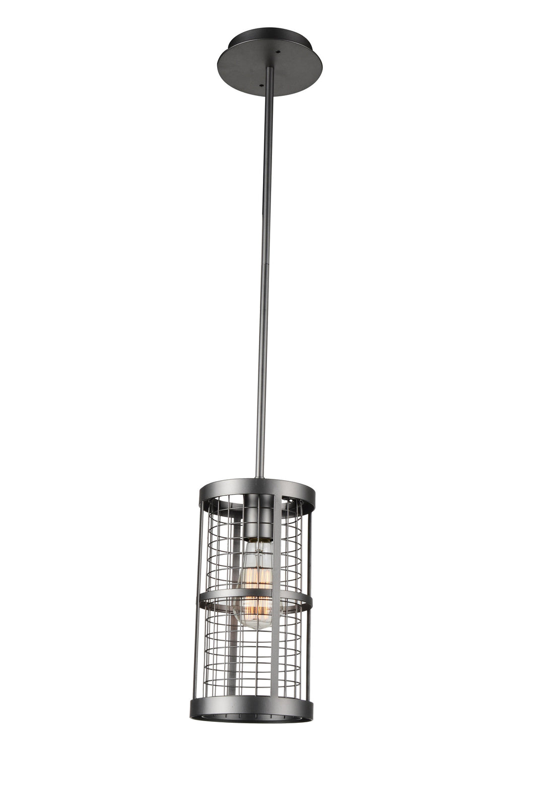 1 Light Up Mini Pendant with Pewter finish