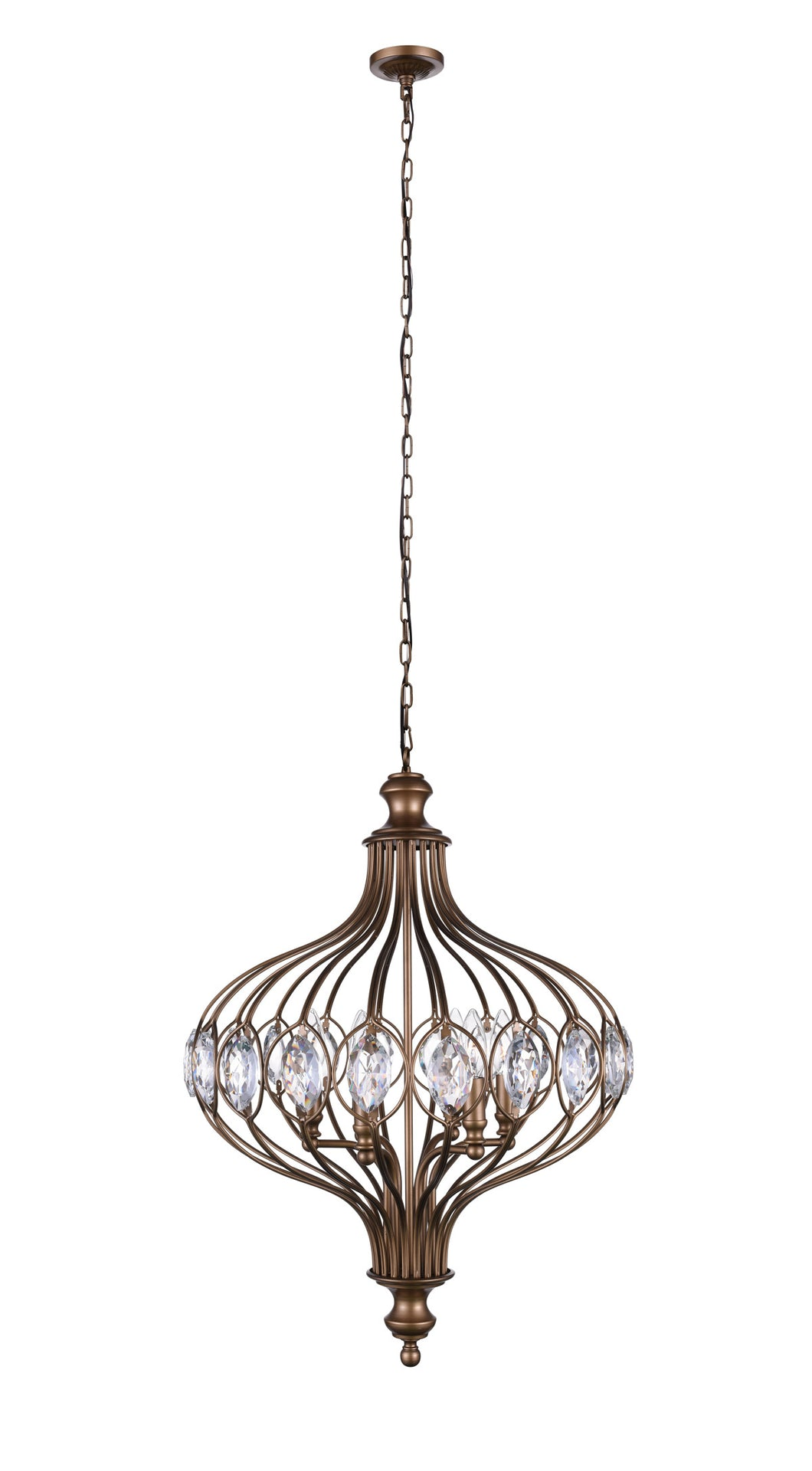 3 Light  Chandelier with Antique Bronze finish