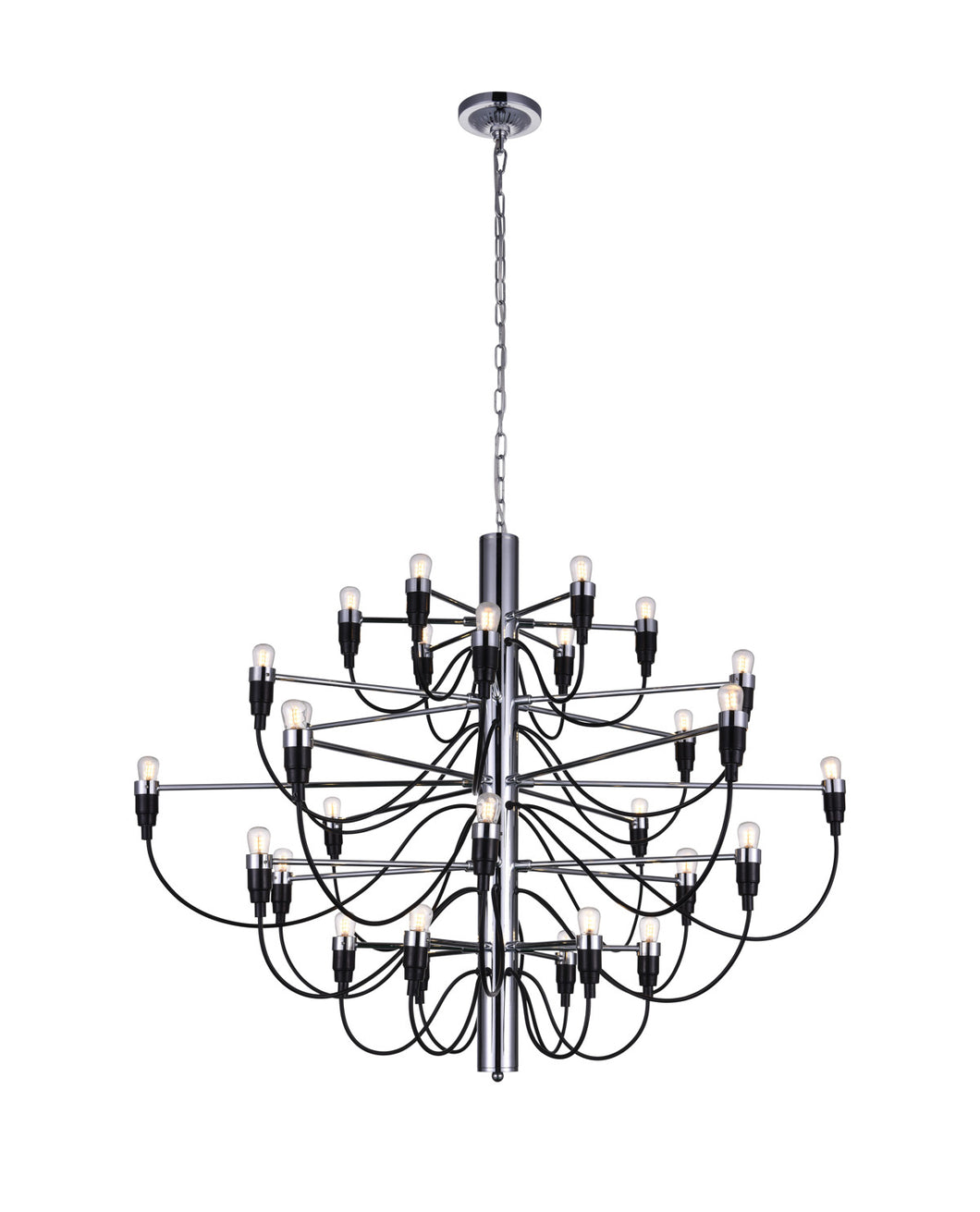 30 Light  Chandelier with Chrome finish