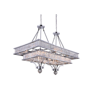 16 Light Island Chandelier with Chrome finish