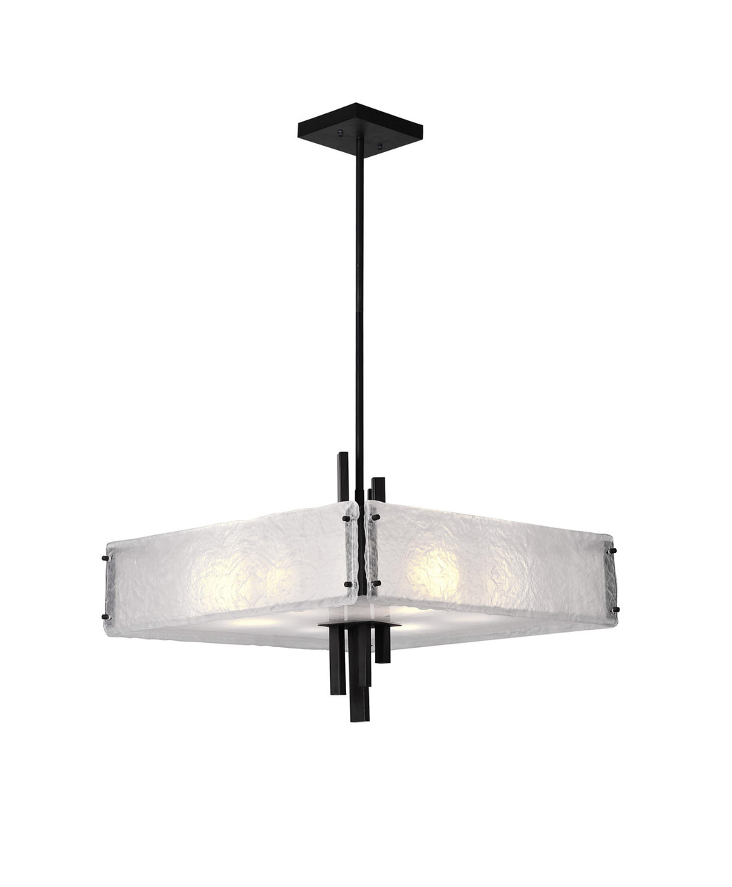 10 Light Chandelier with Black Finish