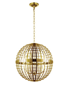 4 Light  Chandelier with Gold finish