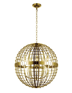 5 Light  Chandelier with Gold finish