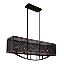 Load image into Gallery viewer, 6 Light Chandelier with Antique Copper Finish