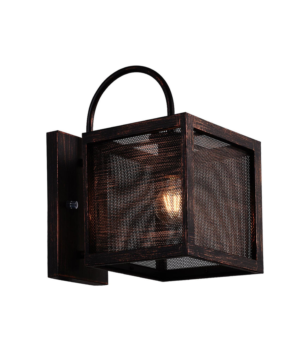 1 Light Wall Sconce with Antique Copper Finish