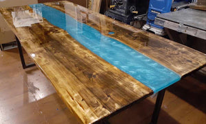 "2"" THICK POUR EPOXY RESIN For ART CASTING & RIVER TABLES, SUPER CLEAR .75 GALLON - NEW CLASSIC RESIN"