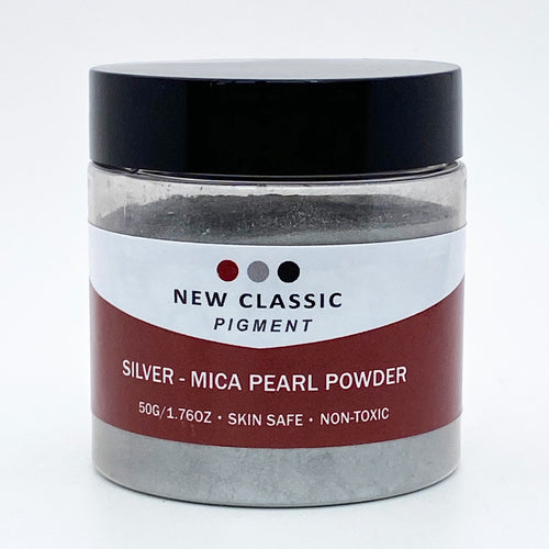 Silver Mica Powder for Epoxy Resin 50 Grams
