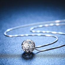 Load image into Gallery viewer, Sterling Silver Hollow Exquisite Ball Necklace