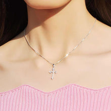 Load image into Gallery viewer, Sterling Silver Cross Necklace