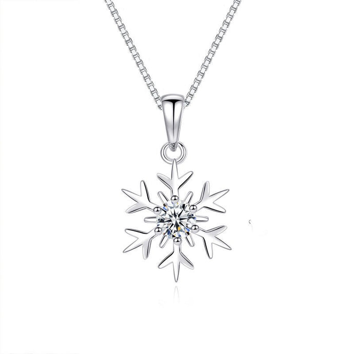 Sterling Silver Snowflakes Necklace