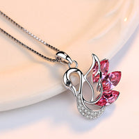 Sterling Silver Swan Necklace