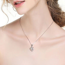 Load image into Gallery viewer, Sterling Silver Dolphin Necklace