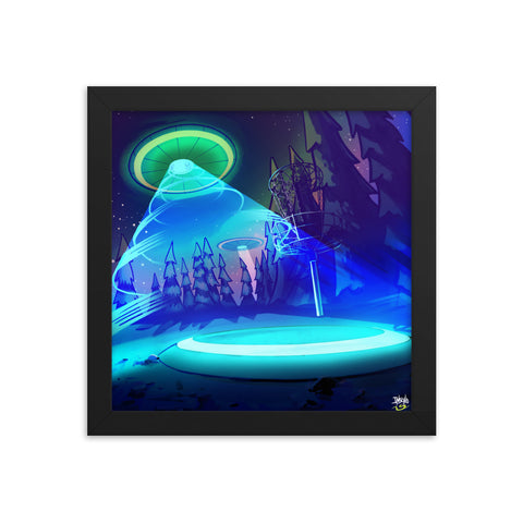 UFO Glow Mike Inscho Framed Artwork