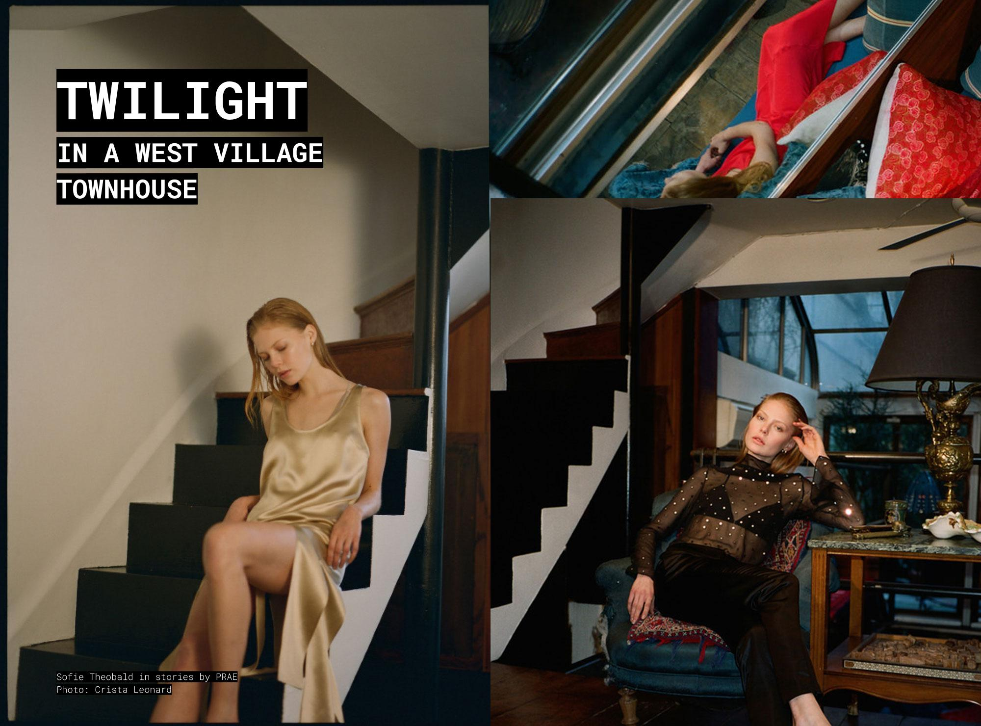 PRAE NYC STORIES: Twilight in a west village townhouse, Sofie Theobald by Crista Leonard