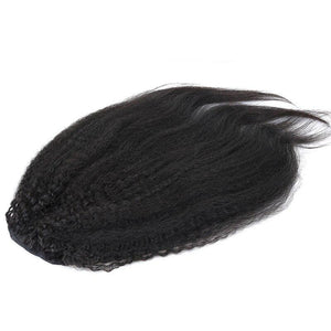 Kinky Straight Natural Yaki Remy Hair Ponytail