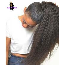 Load image into Gallery viewer, Kinky Straight Natural Yaki Remy Hair Ponytail