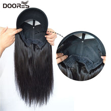 Load image into Gallery viewer, Doores Hair Straight Wigs for Women Human Hair Wigs With Adjustable Baseball Cap Chorliss Duck Tongue Hat With Hair Wigs