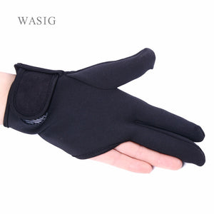 Black Heat Resistant Hairdressing 3 Fingers Glove