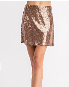 Bronze Baby Mini Skirt