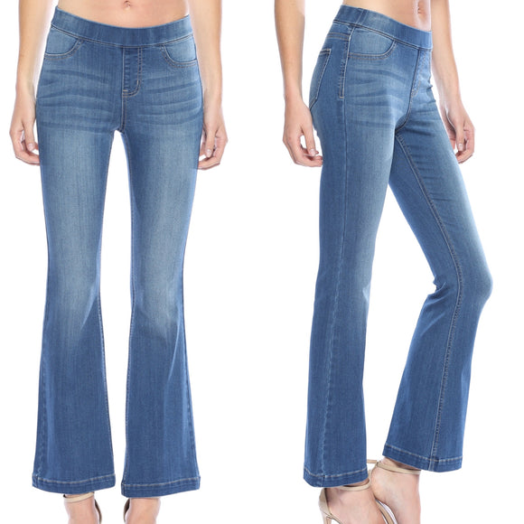 Cello Medium Denim Flares-Petite