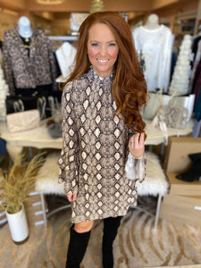 Natalie Snakeskin Dress