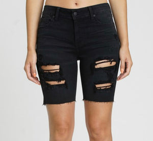 Kailey High Rise Mid Thigh Black