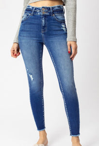 KanCan High Rise Band Detail Jeans