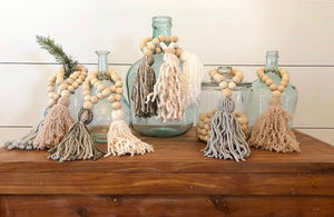 Bella Rey Wooden beaded tassels