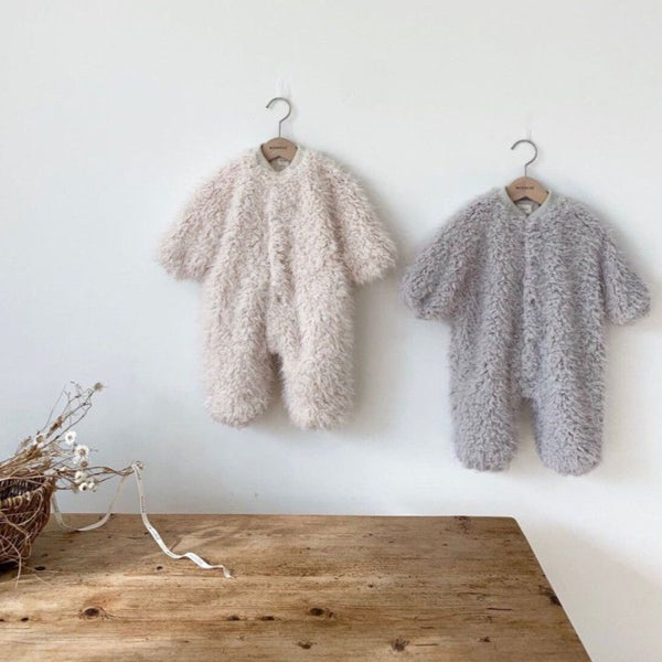 Everest Fluffy Teddy Romper All in One (Cream)