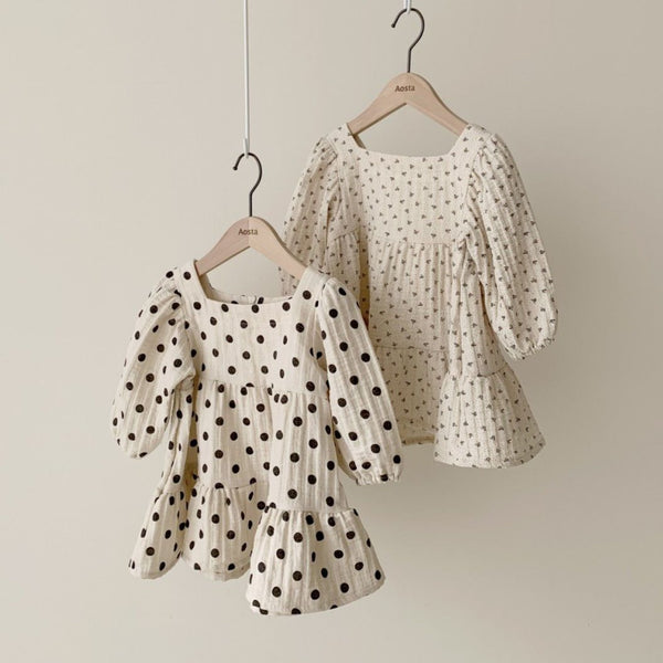 Cora Tiered Polka Dot Dress