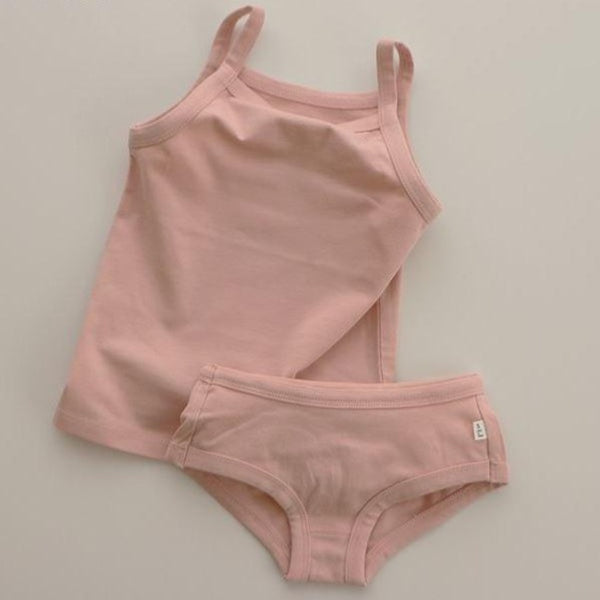 Yara Girls Underwear Vest and Knicker Set (Rose)