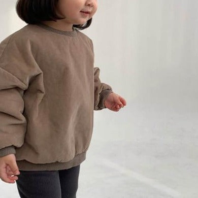 Papio Natural Cotton Padded Sweatshirt (Cocoa)